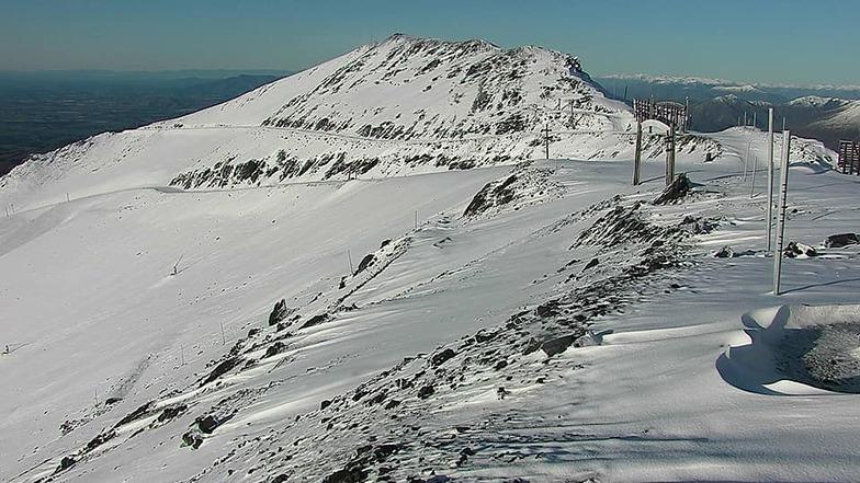 summer snowfall, Mt Hutt