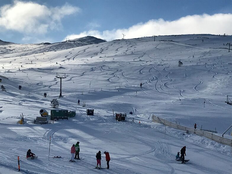 the most terrain open at Highland ski areas, Cairngorm