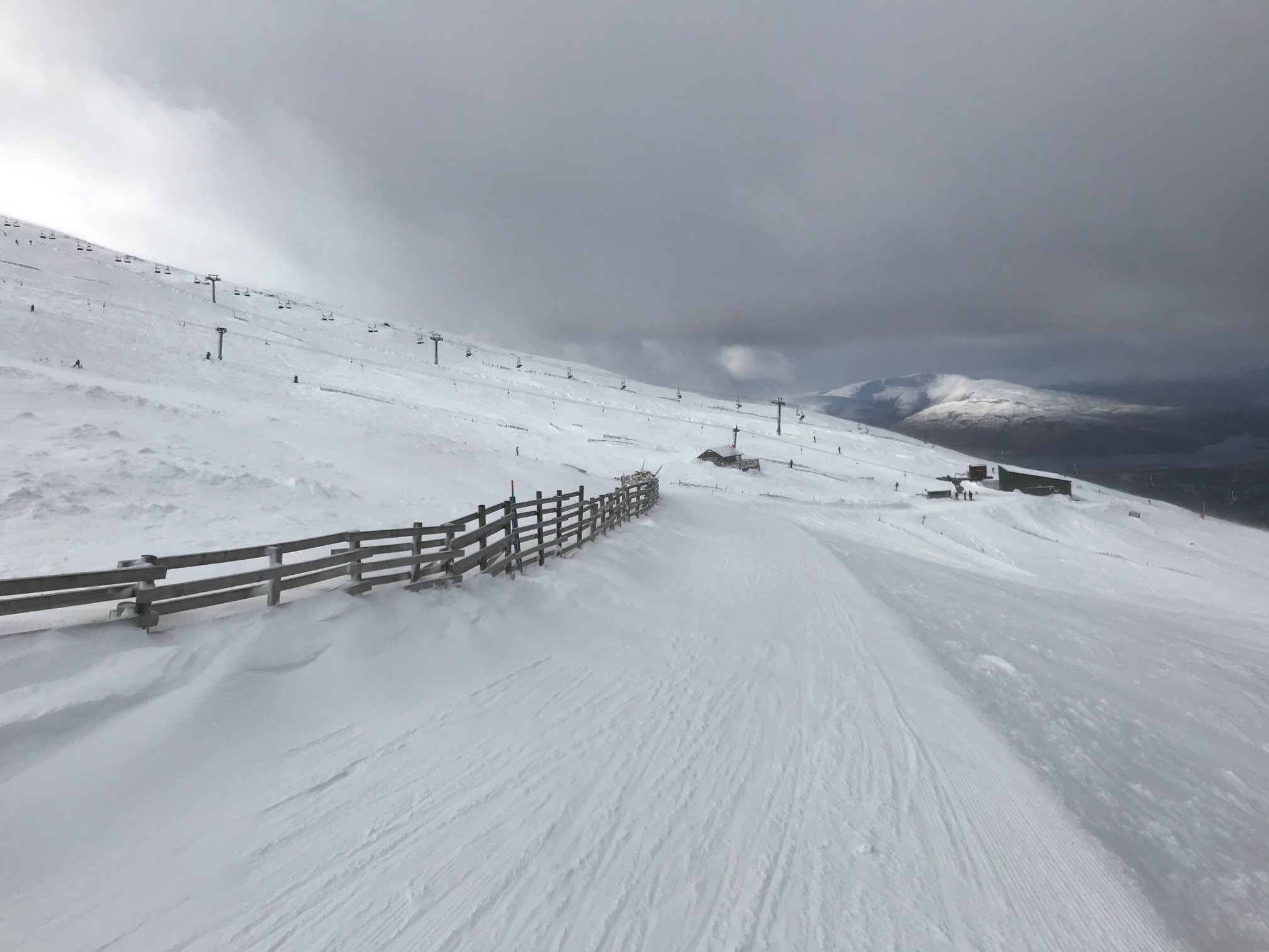 the most terrain open at Highland ski areas, Nevis Range
