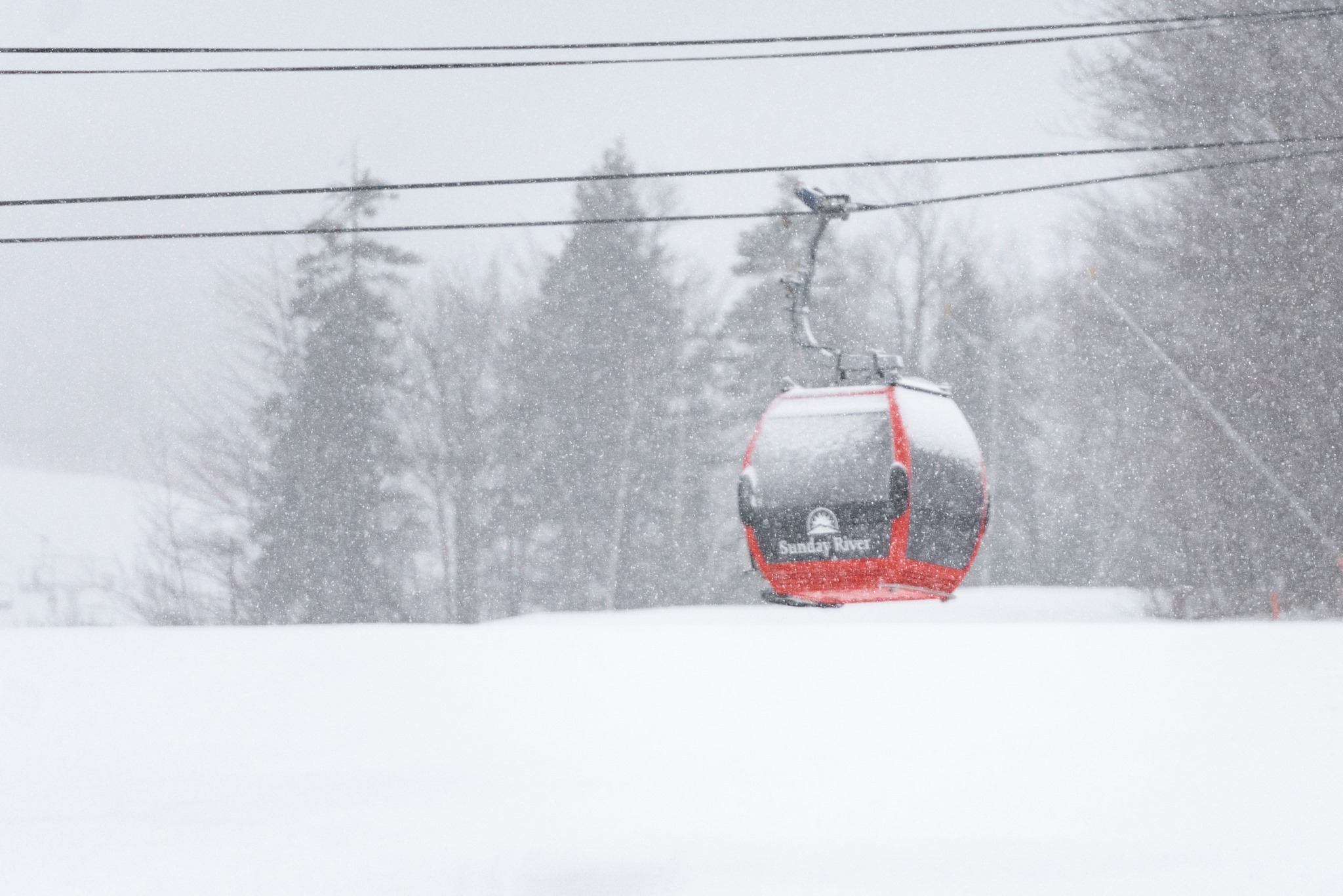 snowstorm getting started, Sunday River