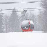 snowstorm getting started, USA - Maine