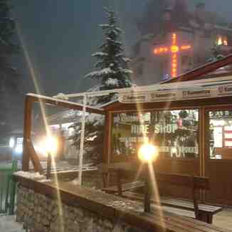 Borovets at night.