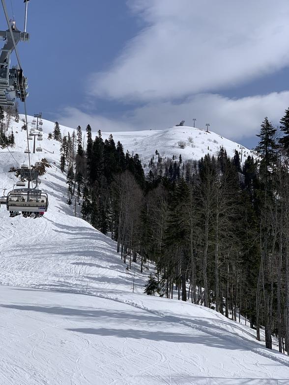 Lift at the base of storozhka, Rosa Khutor Alpine Resort