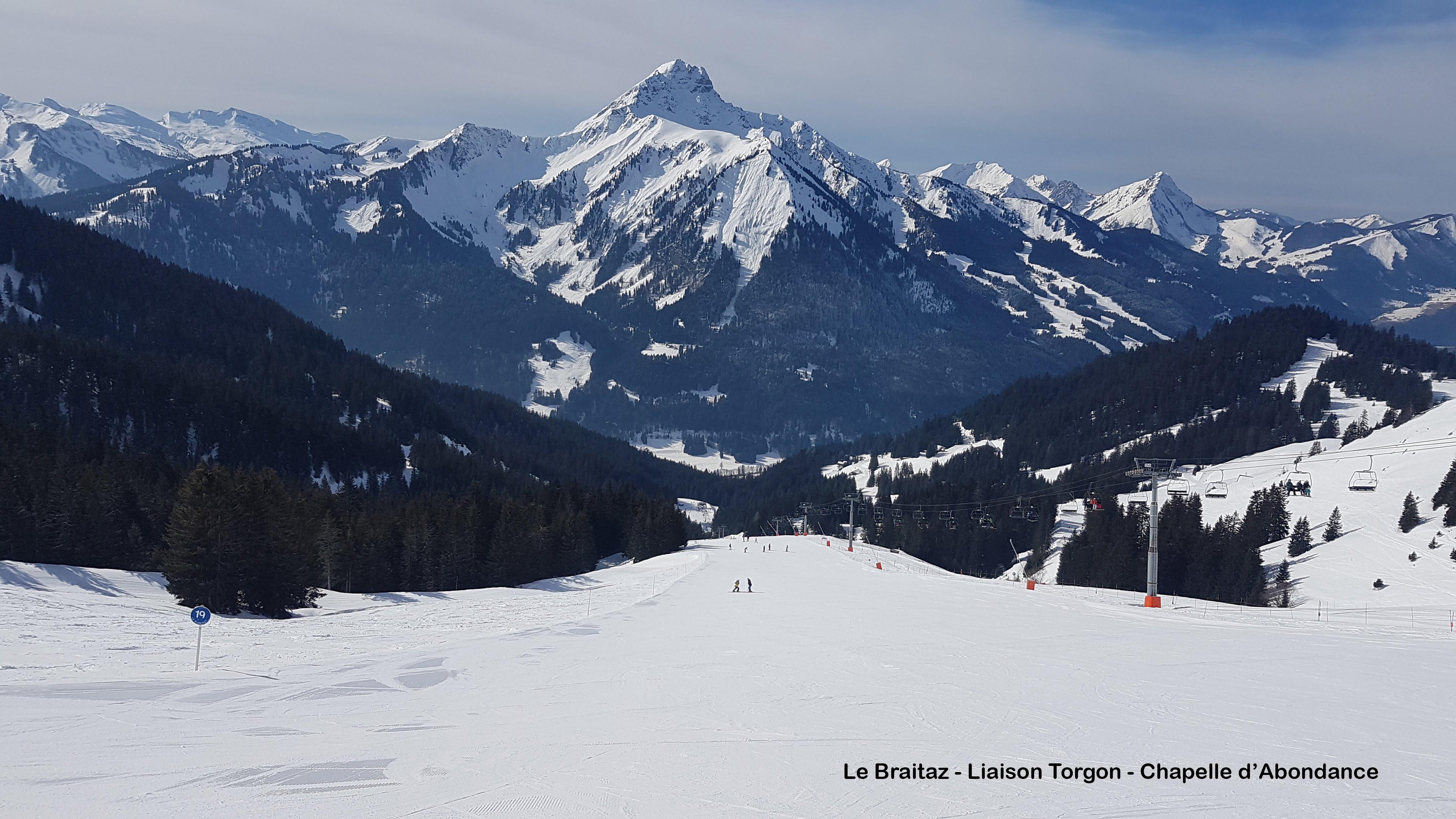 Ski piste Le Braitaz, Torgon-Les Portes du Soleil