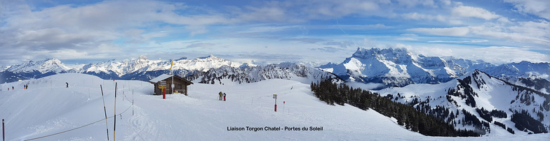 Liaison Torgon - Super Chatel, Torgon-Les Portes du Soleil