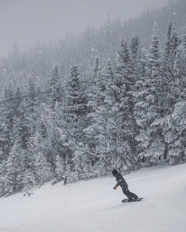 snow is falling, Wildcat Mountain