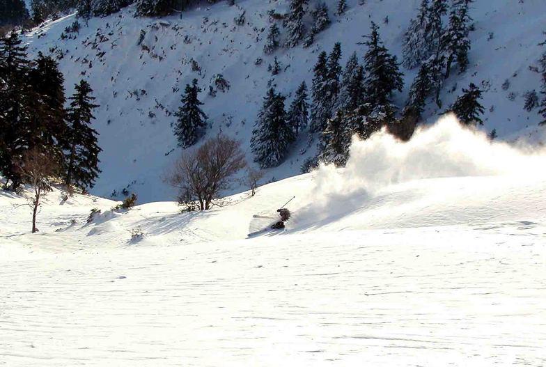 Off piste at Greece,Velouxi Mt, Karpenisi