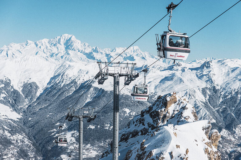 Courchevel snow
