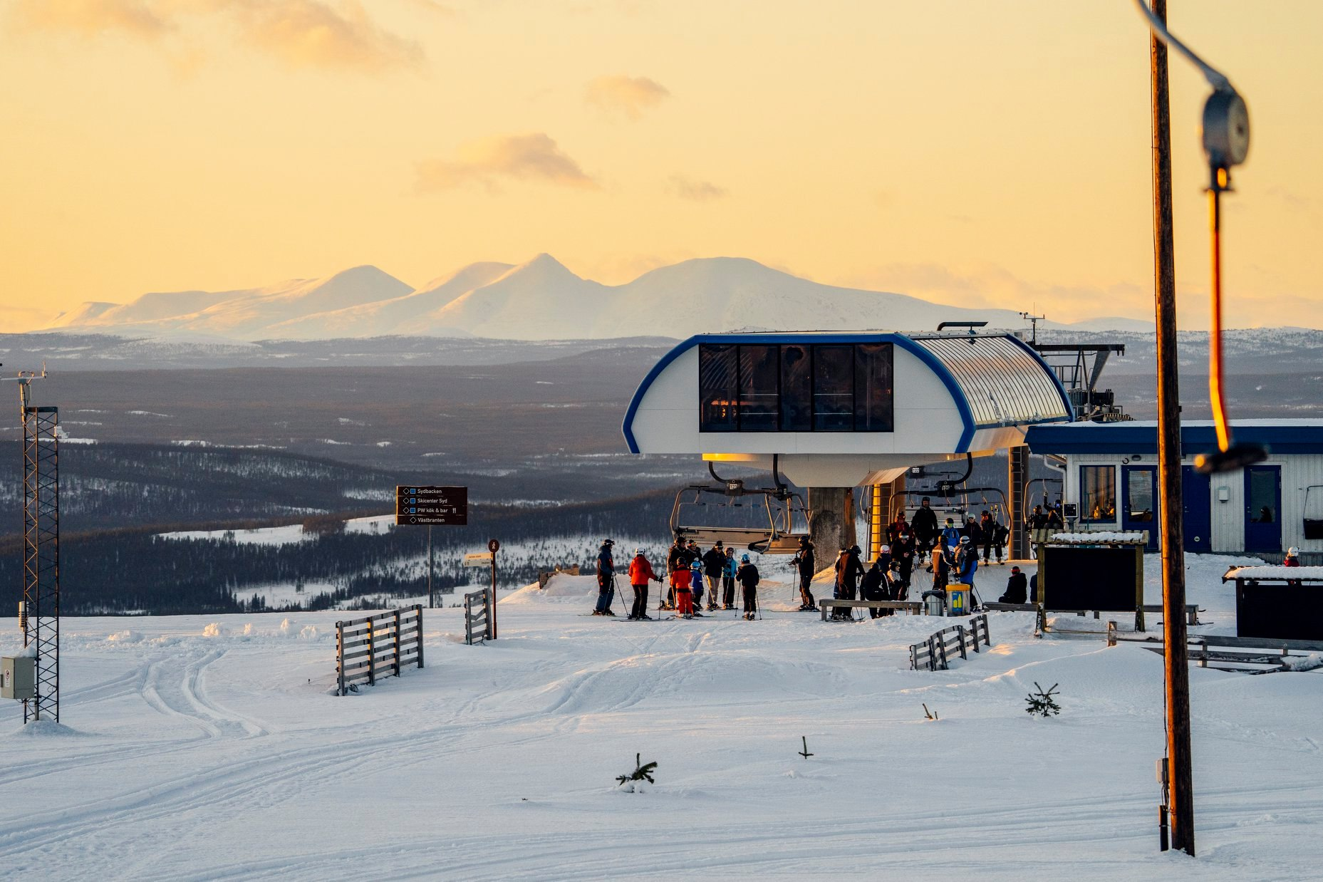 last day of the season for many Swedish ski areas, Idre Fjäll