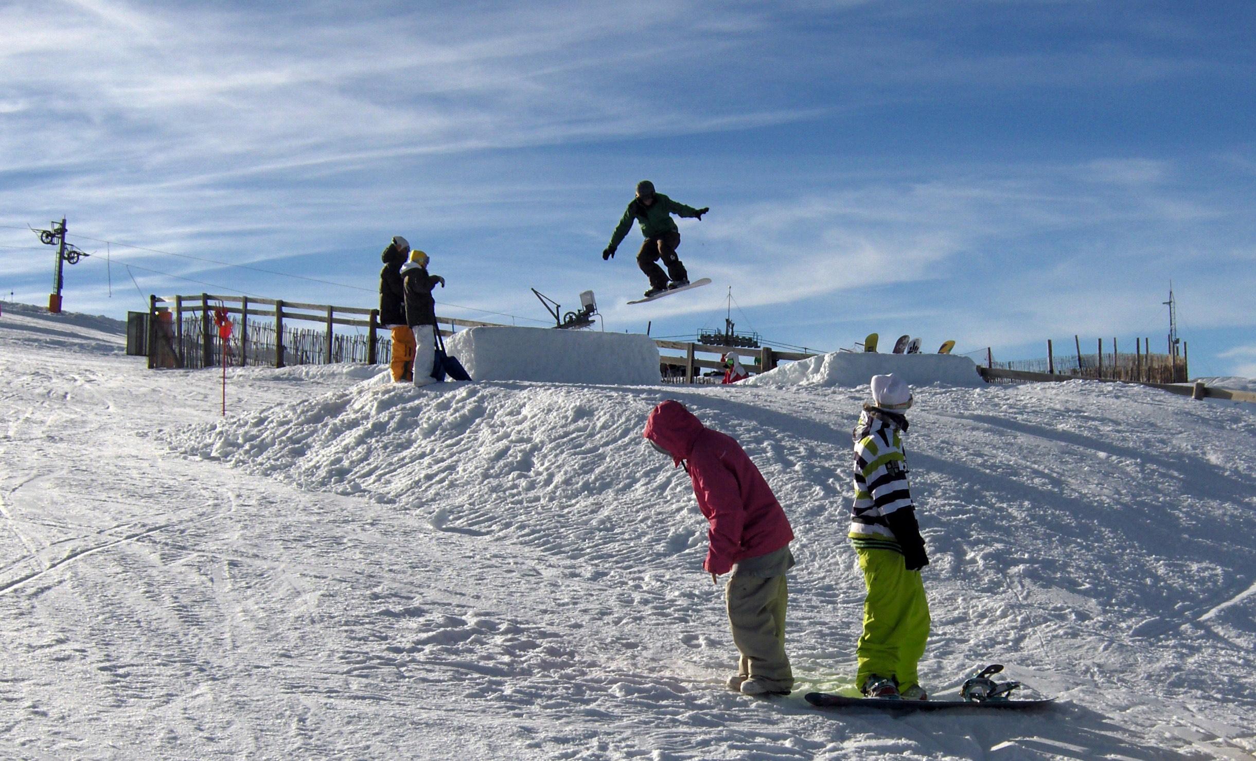 snow park, Sierra de Béjar - La Covatilla
