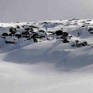Snowraiders en la spistas naturales de La Cardosa, Sierra de Béjar - La Covatilla