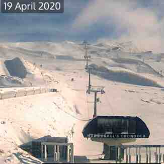snow in April, Cardrona