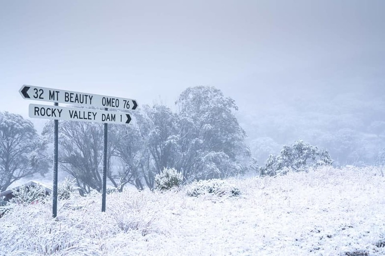 plenty of late autumn snow, Falls Creek