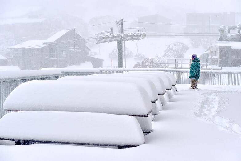 60cm (2 ft) so far at some of the ski areas, Mount Hotham