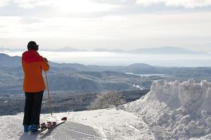 Overlooking Lake Nojiri from the top of Akakura Kanko photo