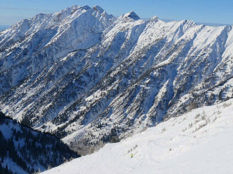 On the Cirque traverse, Snowbird
