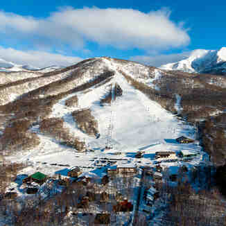Birds eye view of Niseko Moiwa Ski Rersort