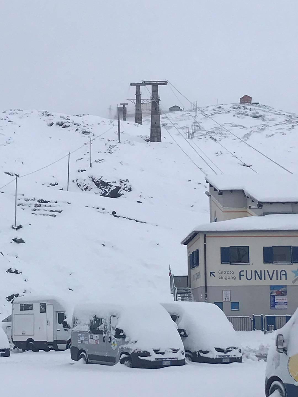 40cm (16 inches) of fresh snow, Passo Stelvio