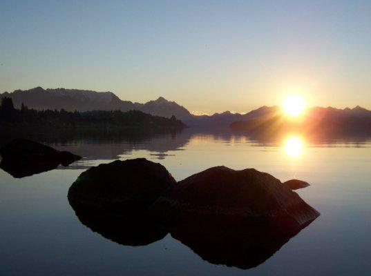 Sunset in the lake @ Cerro Catedral - Bariloche - Argentina