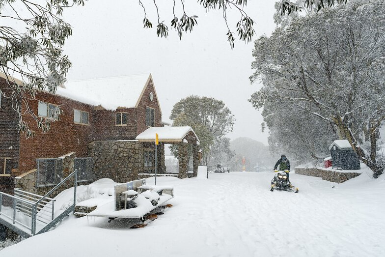 Closed due to virus but snow on its way, Falls Creek