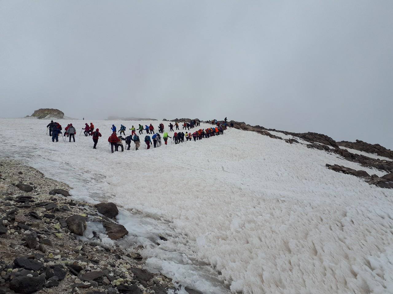 Lots of climbers, Mount Damavand