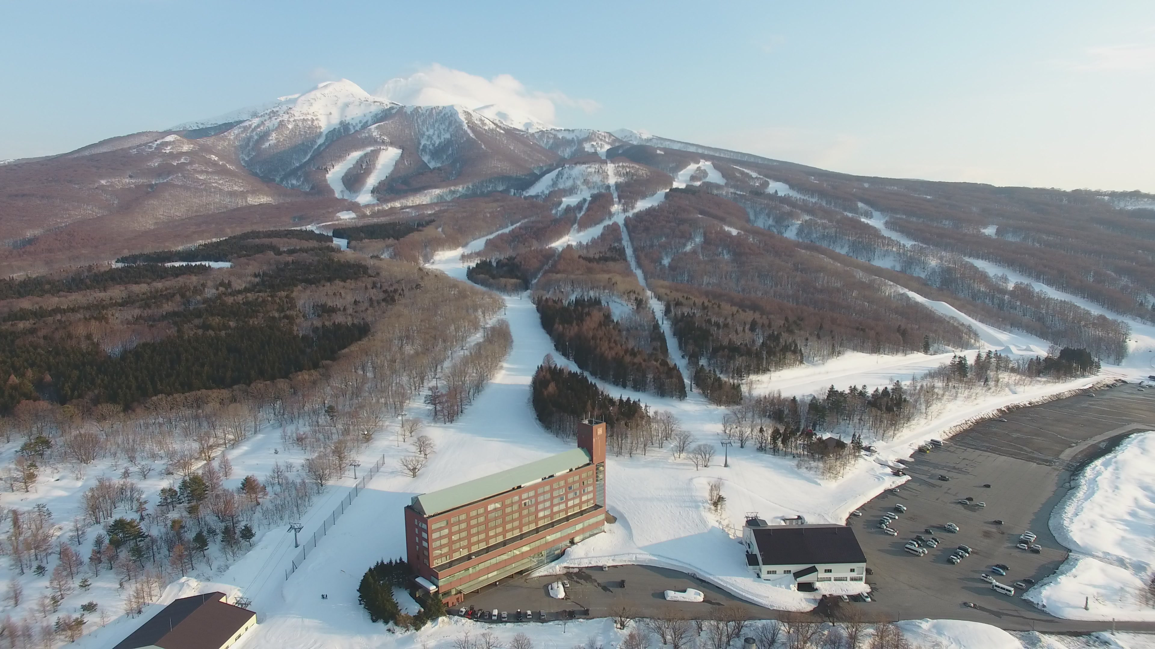 Mt Iwaki above The Rockwood Hotel at Aomori Spring Resort, Aomori Spring (Ajigasawa)