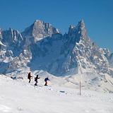 Ski Area Trevalli in the Dolomiti Mountain, Vigo di Fassa