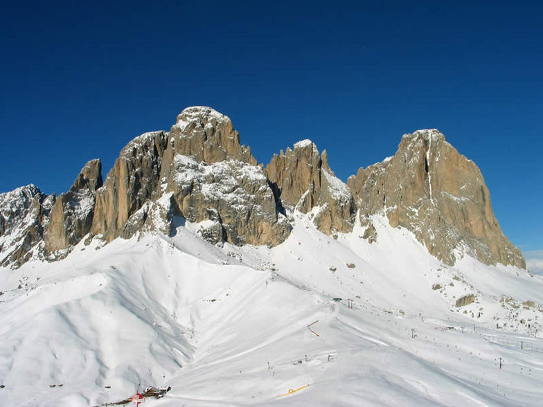 Ski Area Col Rodella in the Dolomiti of the Val di Fassa, Vigo di Fassa