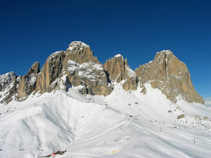 Ski Area Col Rodella in the Dolomiti of the Val di Fassa, Vigo di Fassa photo