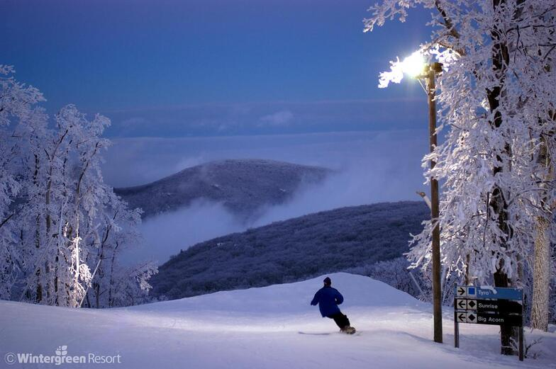 Wintergreen Resort snow