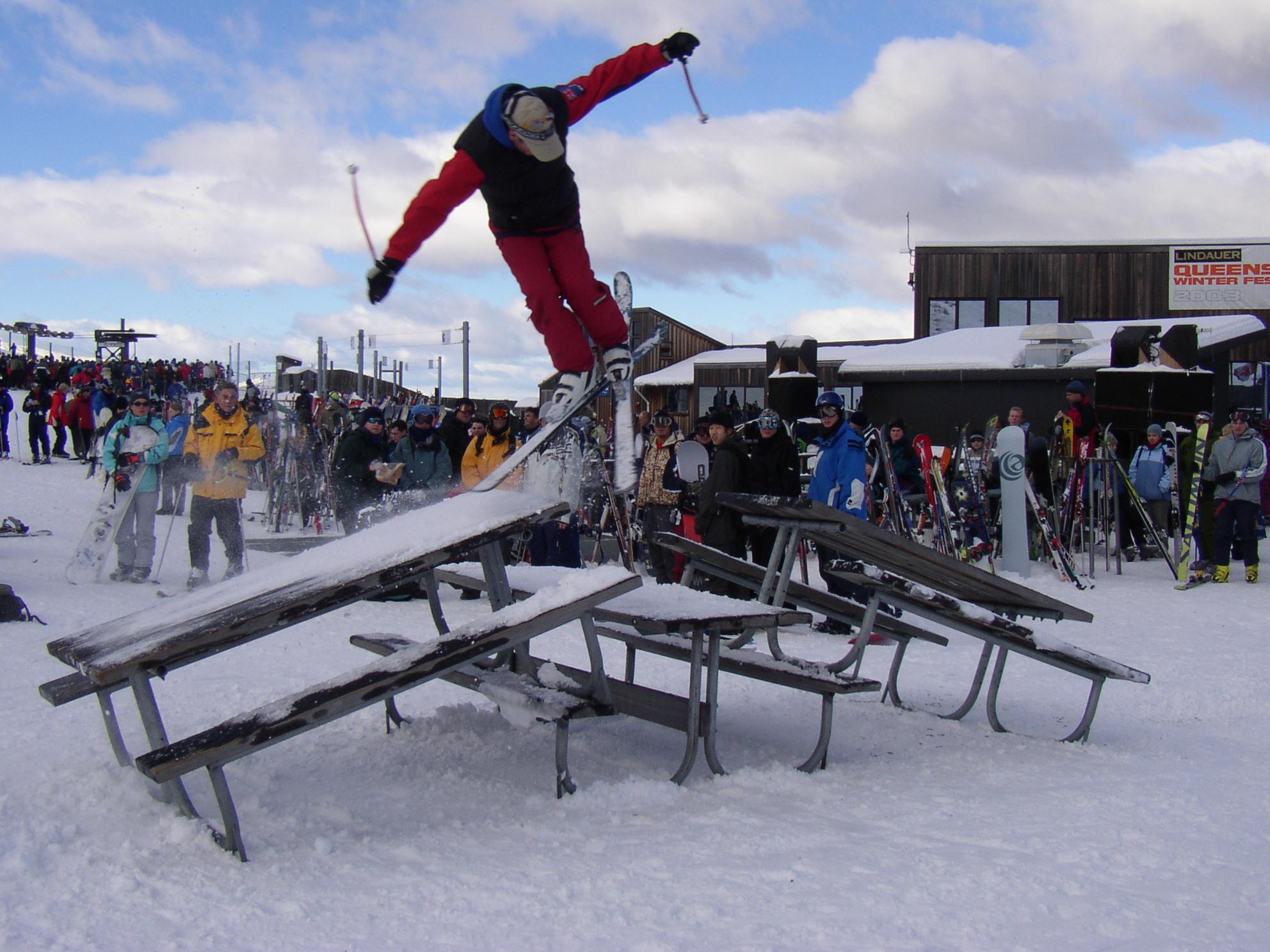 Skier jumping tables, Coronet Peak