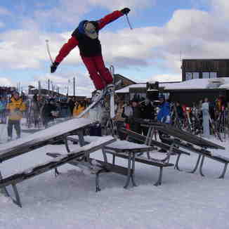 Skier jumping tables, Coronet Peak
