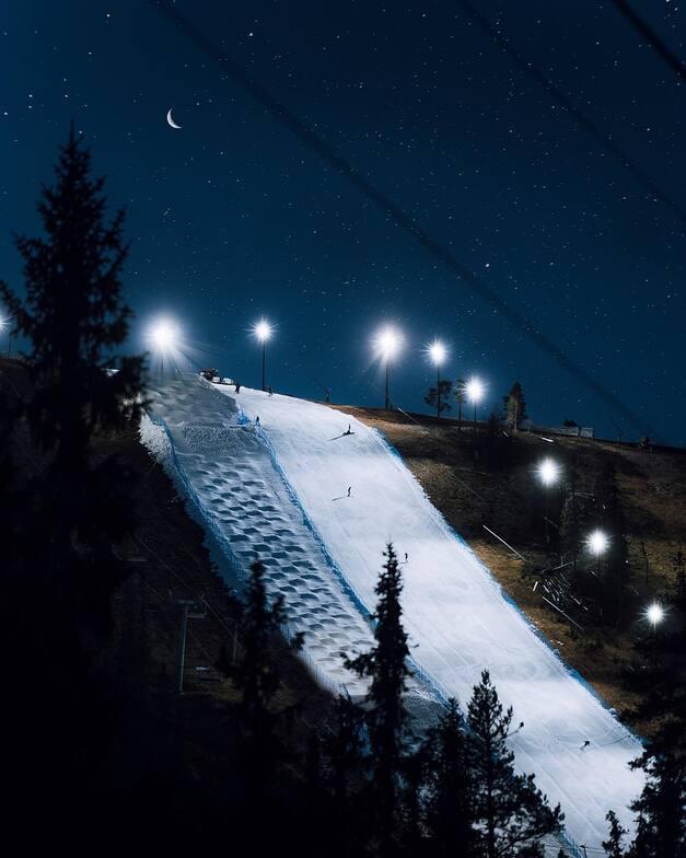 night skiing, Idre Fjäll