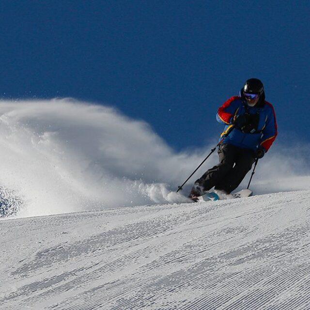 Marketing Matt - Throwing a little snow for the camera, Lookout Pass