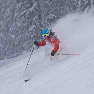 Gez Ripping POWDER at Ski Lookout Pass