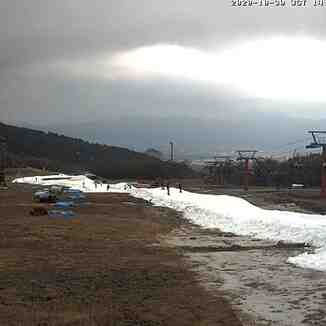 snow-making at the start of the season, Snow Town Yeti
