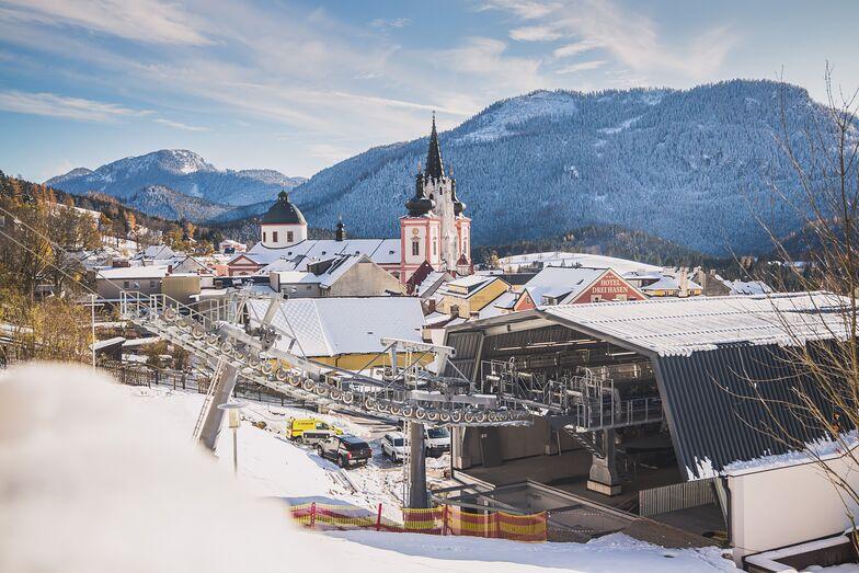 Talstation Mariazell mit Basilika, Mariazeller Land