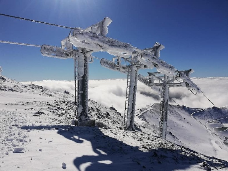 snow on the first day of summer, Mt Hutt