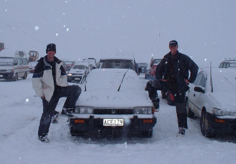 A Snowing morning @ Mt Hutt