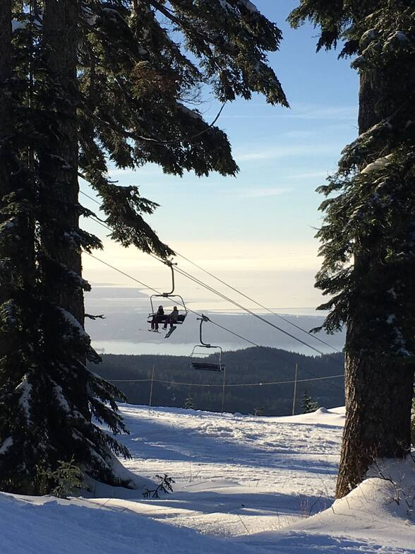 Early chair at Cypress, Cypress Mountain