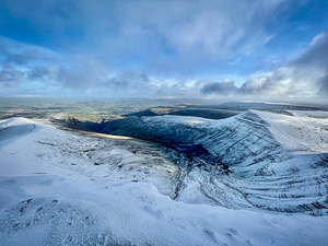 Early December Snow in the Brecon Beacons, Pen-y-Fan photo