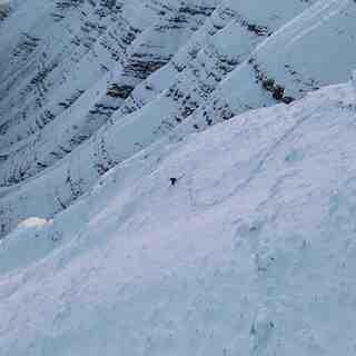 Skiing the NE face of Pen y Fan, Pen-y-Fan
