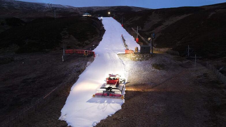 snow-making, Glenshee