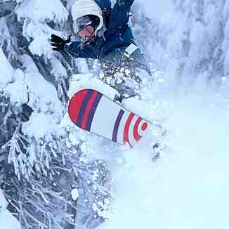 Jessica Robinson on a good morning., Mt Hood Ski Bowl