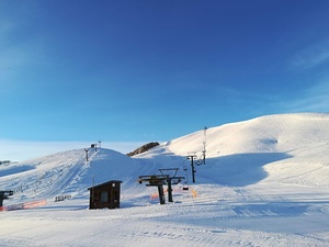 Sunrise in Anilio Ski Resort photo