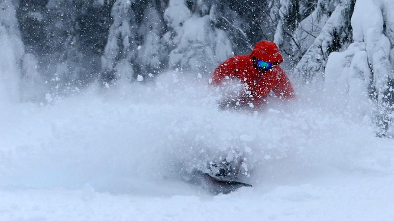 Another great powder morning., Mt Hood Ski Bowl