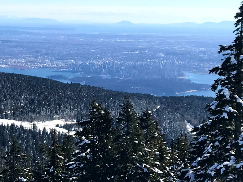 Vancouver from the top, Cypress Mountain