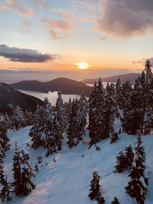 Sunset, Cypress Mountain