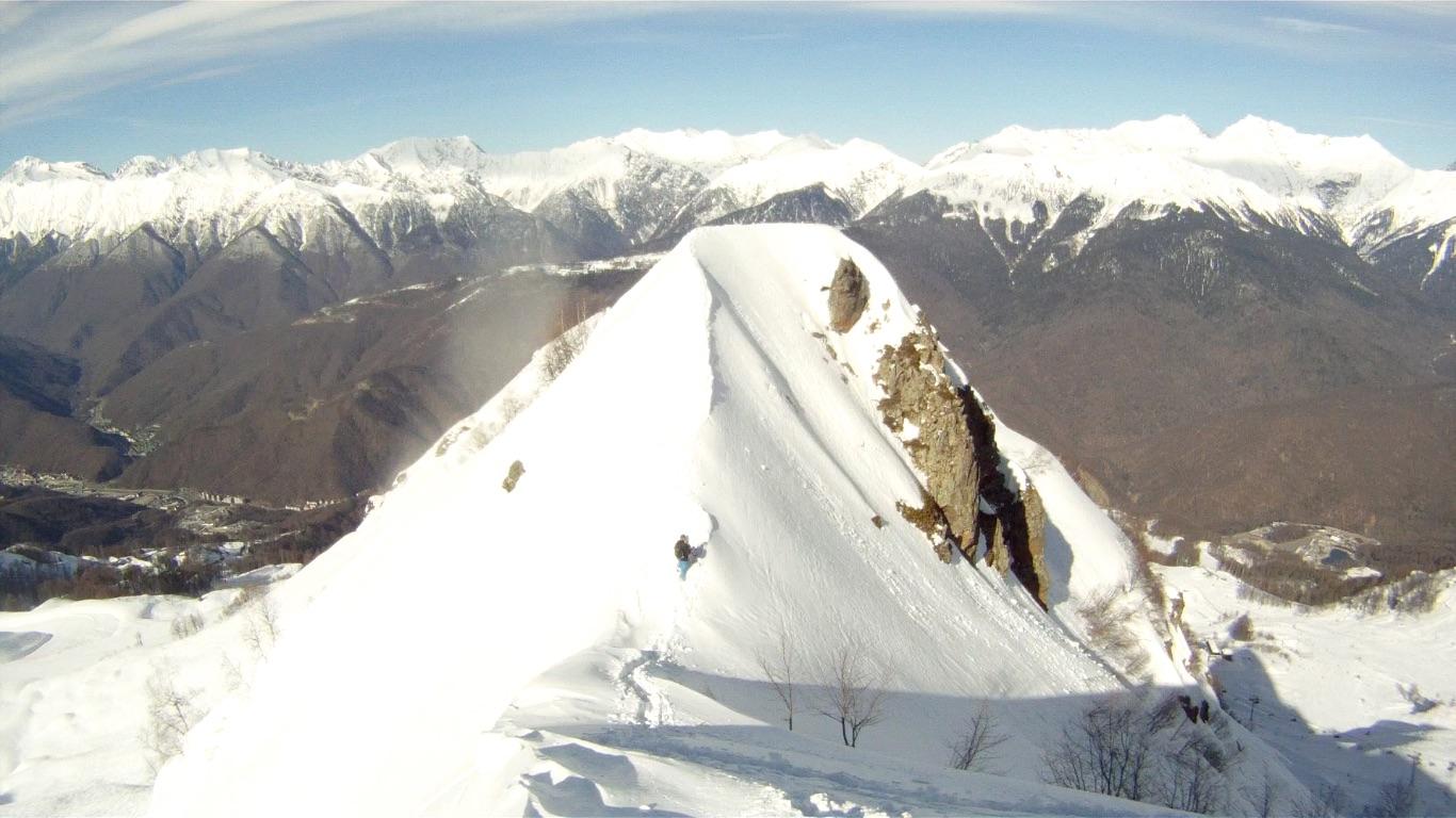 Between Rosa Khutor and Alpika, Альпика