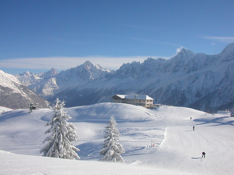 Top of ski slopes of les Houches